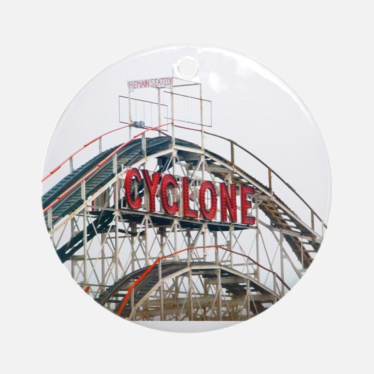 Coney Island: Cyclone Ornament (Round)