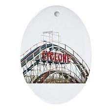 Coney Island: Cyclone Ornament (Oval)