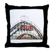 Coney Island: Cyclone Throw Pillow