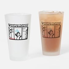 Cute Protest Drinking Glass