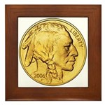 Gold Indian Head Framed Tile