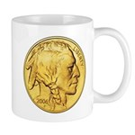 Gold Indian Head Mug