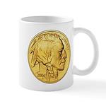 Gold Indian Head Mug