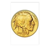 Gold Indian Head Postcards (Package of 8)