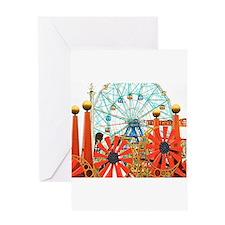 Coney Island: Wonder Wheel Greeting Card