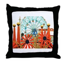 Coney Island: Wonder Wheel Throw Pillow