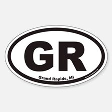 Grand Rapids Michigan GR Euro Oval Decal