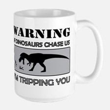 If Dinosaurs Chase Us Large Mug
