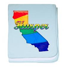 Harper, California. Gay Pride baby blanket