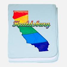 Healdsburg, California. Gay Pride baby blanket