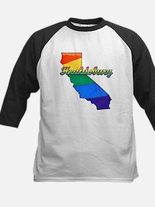 Healdsburg, California. Gay Pride Kids Baseball Je