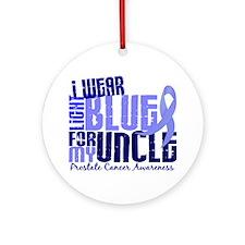 I Wear Light Blue 6.4 Prostate Cancer Ornament (Ro