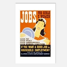 Jobs For Girls WPA Poster Postcards (Package of 8)