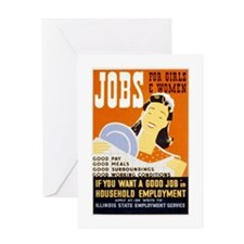 Jobs For Girls WPA Poster Greeting Card
