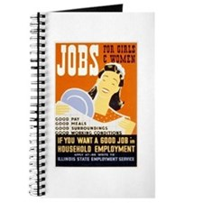 Jobs For Girls WPA Poster Journal