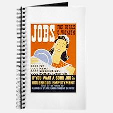 Jobs For Girls WPA Poster Journal