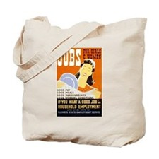 Jobs For Girls WPA Poster Tote Bag