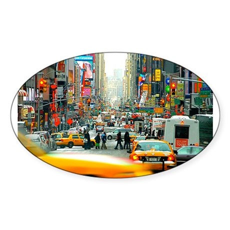 Times Square: No. 10 Sticker (Oval 10 pk)