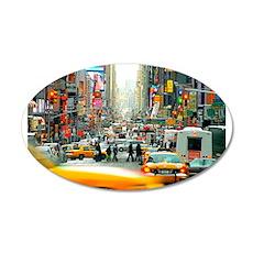 Times Square: No. 10 22x14 Oval Wall Peel