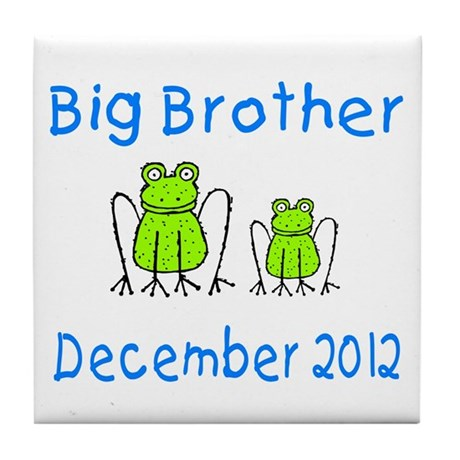 Big Brother Frogs 1212 Tile Coaster
