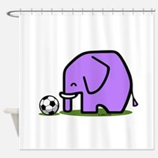 Soccer Elephant(1) Shower Curtain