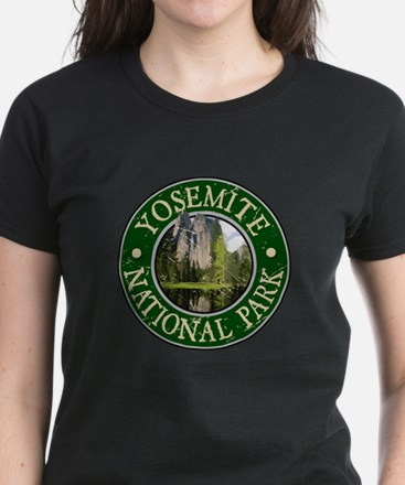 Yosemite Nat Park Design 2 Women's Dark T-Shirt