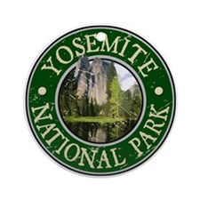 Yosemite Nat Park Design 2 Ornament (Round)