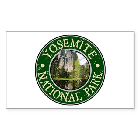 Yosemite Nat Park Design 2 Sticker (Rectangle)