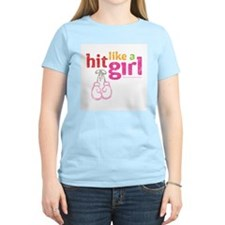 HitLikeAGirl_Distressed T-Shirt