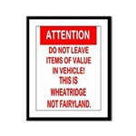 Not Fairyland Framed Panel Print