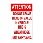 Not Fairyland Sticker (Rectangle)