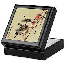 Hiroshige Swallows and Peach Blossoms Keepsake Box