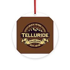 Telluride Sepia Ornament (Round)