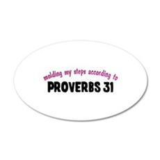Molded by Proverbs 31 22x14 Oval Wall Peel