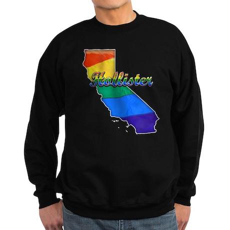 Hollister, California. Gay Pride Sweatshirt (dark)