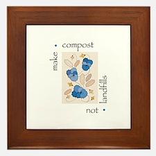Make Compost, Not Landfills Framed Tile