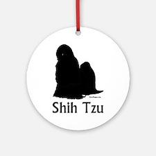 Shih Tzu Silhouette Ornament (Round)