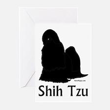 Shih Tzu Silhouette Greeting Cards (Pk of 20)