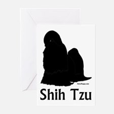 Shih Tzu Silhouette Greeting Cards (Pk of 10)