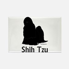 Shih Tzu Silhouette Rectangle Magnet