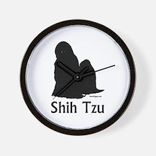 Shih Tzu Silhouette Wall Clock