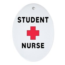 Student Nurse Ornament (Oval)