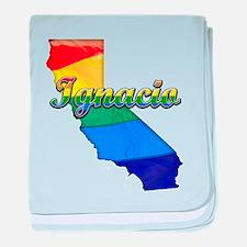 Ignacio, California. Gay Pride baby blanket