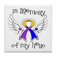 In Memory Bladder Cancer Tile Coaster