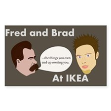 fred and brad Decal