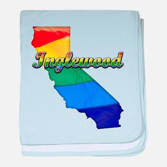 Inglewood, California. Gay Pride baby blanket