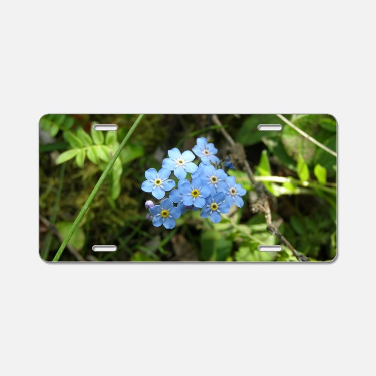 Forget-Me-Not #01 Aluminum License Plate