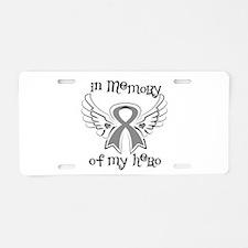 In Memory Brain Cancer Aluminum License Plate