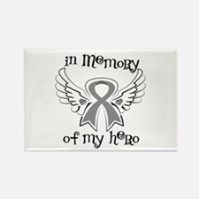 In Memory Brain Cancer Rectangle Magnet