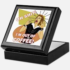 Oh @#$%! I'm out of coffee Retro humorKeepsake Box